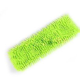 Wholesale Chenille Cloth - Newest Floor Folding Flat Mop Easy Wash Head Coral Velvet Chenille Refill Replace Microfibre Fabric Replacement Cloth