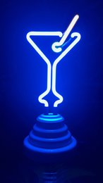 "Wholesale Neon Cable - Neon light neon sign 9""mini Martini cup new art novelty decoration night light batteries or USB cable powered"