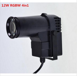 Wholesale Pinspot Led - CREE 12W RGBW 4 in1 DJ Stage Spot Effect led pinspot DMX 512 control Mini Spotlight For discos Party Club pinspot