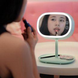 ups de escritorio Rebajas Al por mayor-Original Muid Touch LED Espejo lámparas, Make up mirror + led touch lamp + base inferior almacenable, espejo de escritorio multifuncional luz LED