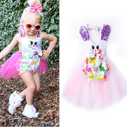Wholesale Floral Photographs - INS Baby girl dress Cute Romper Dresses Petal Sequins Tulle Tutu Tail Photograph clothing 2017 Pink 0-24months