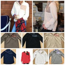 Wholesale Wholesale Fleece Pullovers - sherpa pullover Women fleece oversize jacket personalized winter outwear monogrammed winter outwear women pullover jacket KKA2997