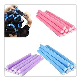 Wholesale Hairstyles Twists - Free Shipping 10Pcs Curler Foam Bendy Twist Curls Tool DIY Styling Hair Rollers Hairstyle Curls Styling Kit