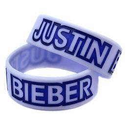2020 bracciali bieber Braccialetto in silicone da 1 pollice, bracciale in silicone Justin Bieber all'ingrosso da 50 pollici / lotto, regalo perfetto per gli appassionati di musica sconti bracciali bieber