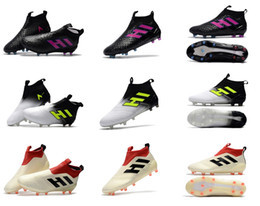Wholesale Ruby Brown - ACE 17.1 Purecontrol football boots Ruby Confederations Cup FG soccer shoes mens High Ankle slip-on soccer cleats Chuteira Botas de Futbol