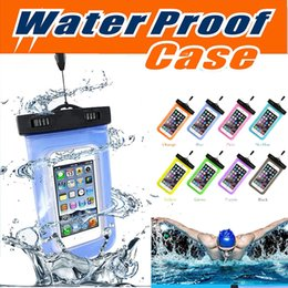 Wholesale Dive Compass - Waterproof Case PVC Universal Dry Bag Touch Screen Neck Pouch With Compass Bag For Diving Cover For iPhone X 8 7 Plus 6 6S Samsung S8
