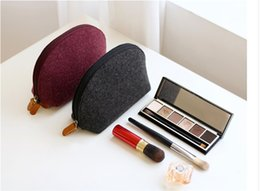 Wholesale Cosmetics For Men - Women's coin purse creative felt small pouch mini Cosmetic Bags wallet bag for girls men boys JF-532