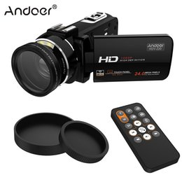 Wholesale Full Hdv - Wholesale- Andoer HDV-Z20 Portable 1080P Full HD Video Camera with Angle Lens Mega Zoom Camcorder LCD with Remote Control Support WiFi