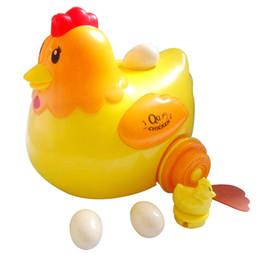 Huevos de gallina juguetes electrónicos para niños diversión para niños con música light run universal desde fabricantes