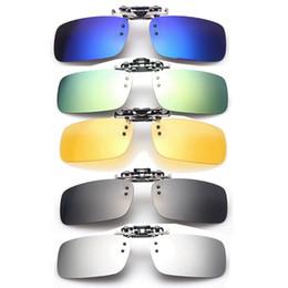 Wholesale High Uva Sunglasses - High Quality Unisex Polarized Clip On Sunglasses Driving Night Vision Lens Anti-UVA Anti-UVB Cycling RRiding Sunglasses Clip
