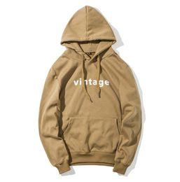 Wholesale Vintage Sweatshirts - Vintage Letters Men Hoodies Simple Hooded Slim Casual Sweatshirts Long Sleeved Autumn Clothing