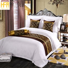 Wholesale Brown Queen Bedding Set - 50*180Cm New Arrival Bed Runner Bed Set Runners Brief Fashion Bedrunner Refreshing Decorative Pattern Bedding Covers Dark Brown Color