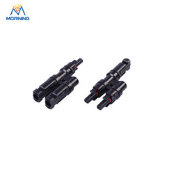 Wholesale Solar Branch - Hot sale 2017 YF-1001T MC4 T-branch MC4 solar waterproof connector 30A DC 1000V of high quality