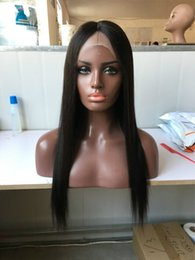 Wholesale Glueless Lace Front Wigs Cap - Wholesale Price ! Silky Straight Virgin Human Hair Wigs Glueless Full Lace Wigs With Baby Hair Human Lace Wig Cap Bleached Knots