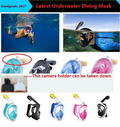 Wholesale Diving Mask New - 2017 New Underwater Diving Mask Snorkel Set Swimming Training Scuba full face snorkeling mask Anti Fog for adult kids teenager M943