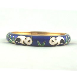 Wholesale Enamel Cloisonne Bracelet Bangle - unique animal panda deisgn bracelet Jewelry Fashion Bangle Stylish Accessories Womens Bracelets Fashion Women Accessories Z075