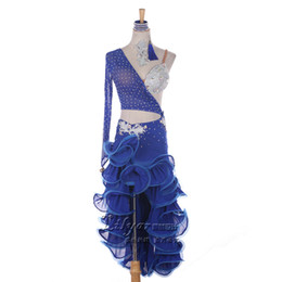 Wholesale Latin Samba Dance Wear - Adult Child New Latin Dance Dress Women Competition Flamenco Dress Roupa De Ginastica Samba Costume Ballroom Dance Wear Enfeites Para Quarto