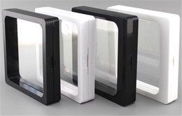 Wholesale Frame Collections - 50 pcs 7x7x2cm,clear plastic membranes photo frame display  collection box jewelry box -ourself mold