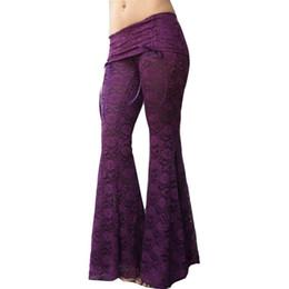 Wholesale Wide Leg Pleated Chiffon Pant - Women's Summer Casual Lace Pants Ladies Beach Lace Wide Leg Pants Plus Size Pants Flare Trousers YS YC384