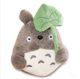Wholesale Lotus Doll - plush toy my neighbor totoro plush toy cute soft doll totoro with lotus leaf kids toys Cat 25cm