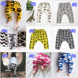 Wholesale Spring Boys Harem Pp Pants - Baby Ins PP Pants Casual Harem Pants Cotton Moose Monsters Cloud Kids Fashion Leggings Girls Tights Newborn Boys Trousers Xmas 14 Design
