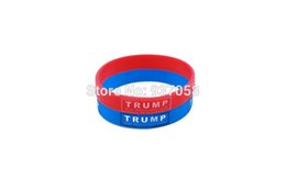 Wholesale Custom Rubber Wristbands Wholesale - 2pcsAS a supporter rubber band 4pcs custom cheap silicone bracelet china US presidential candidate TRUMP silicone wristbands