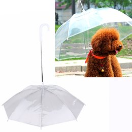 Wholesale Dog Leash Metal - High Quality Pet Dog Umbrellas Rain Protective Fashion Umbrella for Walking the dog with dog leash