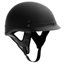 Wholesale New Helmet Summer - 2017 New Hot Wholesale Half Face Motorbike scooter Helmets Vintage Motorcycle Helmets for Harley Retro Helmets Half Summer DOT arpproved