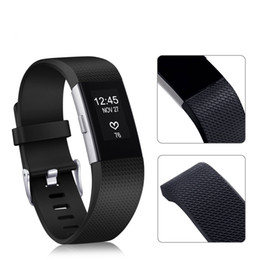 Wholesale Bags For Fitness - Fitbit Charge2 Replacement Watch Bands Wristbands Water Resistance Easy Cleaning Fitness Sport Silicone Bracelet StrapOpp Bag