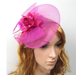 Wholesale wholesale fascinator hats - New women fascinator cocktail hat for weddings or daily and party girls hair accessories with headband &clip free shipping