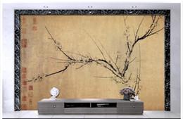 papier peint oiseau fleur Promotion Haute Qualité Personnalisé 3d plafond papier peint peintures murales papier classique chinois fleur et oiseau rétro backg plafond peintures murales salon décor