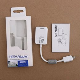 Wholesale Hdtv Adapter Galaxy Tab - MHL Micro USB to HDMI Cables HDTV Adapter for Samsung Galaxy S5 S4 S3 Note 2 note 3 Galaxt Tab 3