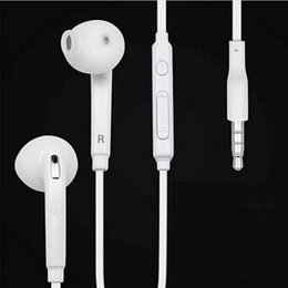 Wholesale Stereo Headphones Volume Control - 3.5mm earphones Premium Quality Stereo in-ear earphone headphones headsets with mic and remote Volume Control For Samsung S7 S6 S6 Edge