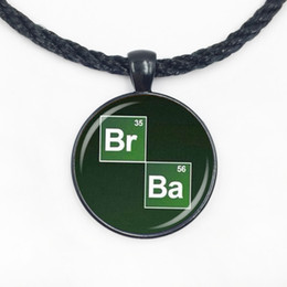 Wholesale Glass Symbols - Wholesale Glass Dome Pendant New Popular Vintage Breaking Bad Necklace Chemical Symbol Br Ba Pendant handamde jewelry