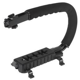 Wholesale China Dslr Cameras - U C Shape Flash Bracket Holder Video Handle Handheld Stabilizer Action Grip for DSLR SLR Camera Mini DV Camcorder Smartphone