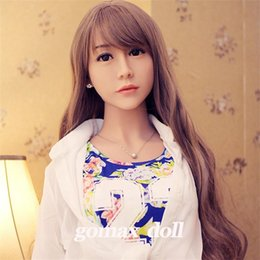 Wholesale Life Size Head Sex Toy - sex robot toys Lifelike Sex Doll for women female realistic big penis real tan skin TPE Asian Japan head sexy