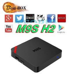 Wholesale Minix Set Top Box - 2017 [Genuine] M9S H2 Android TV box 1G+8G 2.4G KD 16.1 Pre-installed fully loaded Media Player Set Top Box VS T95Z Z8 Z9 MIX MINIX