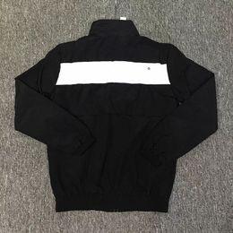 Wholesale Uniform Coats - Europe America Box logo Arc Track Jacket Street Skateboard Coat Embroidery Logo Thin Windproof Jacket School Uniform