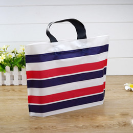 Wholesale Custom Make Wholesale Clothing - 40*30*8 Plastic handbag, custom made candy color clothing shop, shoebox packing bag,shopping bag, advertisement gift packing bag no4