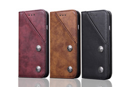 Wholesale Genuine Blackberry Phones - For Samsung S8 Case Genuine Leather Magnetic Flip Wallet Case Cover For Samsung Galaxy S8 S 8 Plus Phone with Card Cover Coque