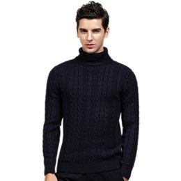 Canada Pull col roulé en laine noire pour hommes Slim Fit Pull en cachemire tricoté solide 100% acrylique Pulls Marque supplier black acrylic sweater Offre