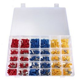 Wholesale Spade Crimp - 480Pcs Assorted Insulated Electrical Wire Crimp terminal Connectors Spade Ring Fork tool Set Kit with Box for Marine Automotive Car