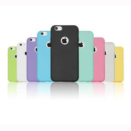 Wholesale Clear Flip Case For 5s - Candy Colorful Soft TPU Transparent Clear Flip Cover Case Touch Screen For iPhone 6 6S Plus 5 5S OPP BAG