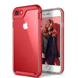 Wholesale Metal Back Bumper - For iphone 7 Phone Case Clear Hybrid Soft TPU + Metal Texture Bumper Back Cover Iphone Case For Iphone 7 7plus