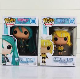 Wholesale anime figure vocaloid - EMS 10cm FUNKO POP Anime Hatsune Miku Diva miku Nendoroid Vocaloid pvc doll Action figures birthday gift for kids toy