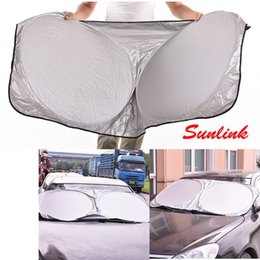 Wholesale Sun Heat - The latest model 120g 150*70 car sun cover shade silver plasters front sun visor out of heat and light