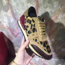 Wholesale Casual Leopard Shoes Woman - Men & Women Hot Sale Luxury Designer Rivets Casual Leopard Horse Hair Shoes Unisex Suede Sports Sneakers Leisure Flat Shoes Size 35-44