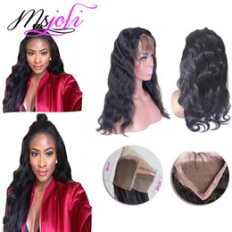 Wholesale New Arrival Indian Hair - Indian 100% real human virgin hair 360 lace frontal unprocessed hair with baby hair body wave free part new arrival 8 to 22 inches