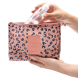 Wholesale Wholesale Leopard Clutches - Wholesale- Women Multifunction Mesh Make up Bags Travel Lady Storage High quality Cosmetic Toiletry Bag Organizer Purse Pouch Clutch Bags