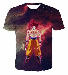 Argentina El más nuevo Galaxy Space Anime Dragon Ball Z Goku 3d camisetas Moda Verano Hombres / Boy Super Saiyan Tee Tops Ropa supplier galaxy clothes Suministro